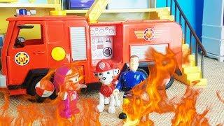 Bajki Strażak Sam I Psi Patrol - Wielki Pożar W Domu Mashy - Bajki Dla Dzieci