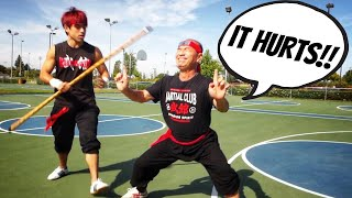 I TAUGHT MY DAD KUNG FU, THIS IS WHAT HAPPENED!!