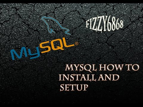 MySQL how to install and setup for local and remote users