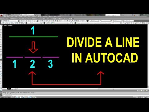 How to divide a line In Autocad