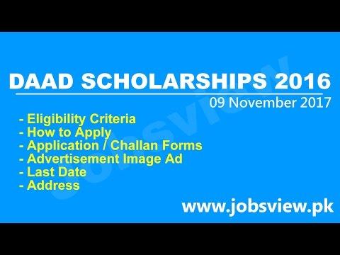 DAAD UG PG Phd Germany Scholarships 2016 2017 Apply Online Application Form JobsView.pk