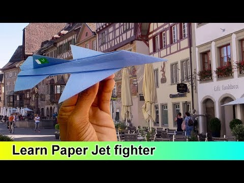 Learn to make a paper Jet fighter F16