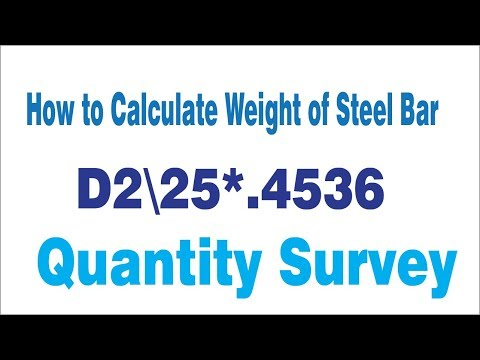 How to Calculate Weight of steel Bars in Kg/ft