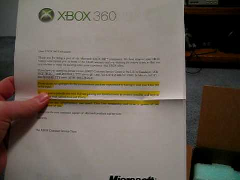 I finally got my Xbox 360 back from Microsoft