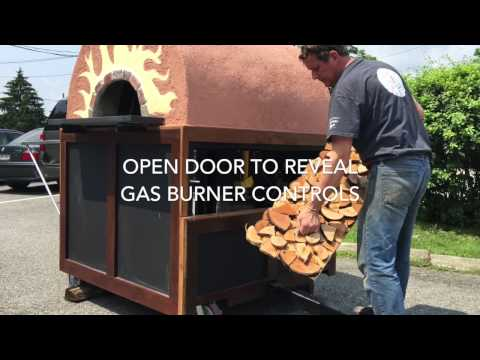 Portable Commercial Pizza Oven Cart for Country Clubs, Hotels, Golf Courses & More