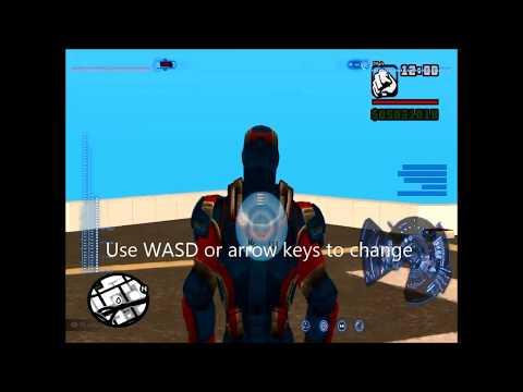 GTA San Andreas Iron man mod controls