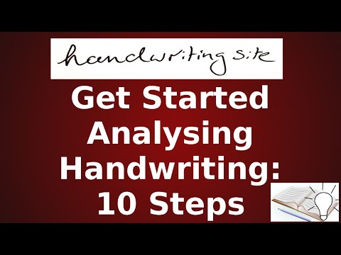 10 Steps Graphology Tutorial - Introduction - Getting Started - Areas You Shouldn't Miss