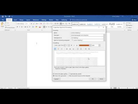 (Urdu) How to Create Custom Styles and Headings in MS Word 2007 2010 2013 2016