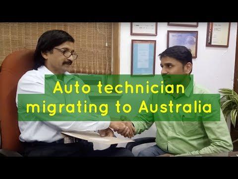 Sandeep, Our Australian PR visa got Auto technician sharing his joy