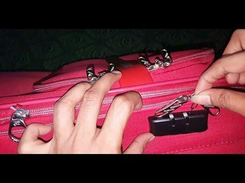 Unlock American tourister bag lock