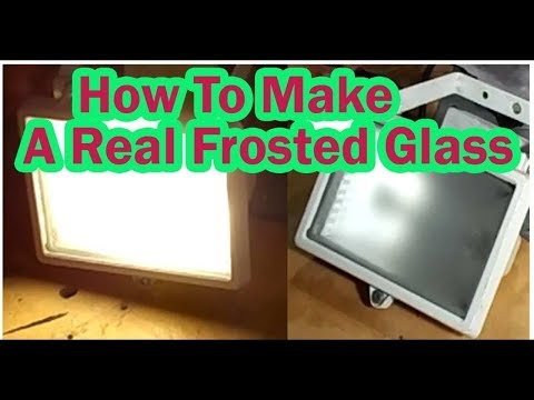How To Make Frosted Glass