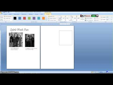 Create a double-page spread for Spirit Week