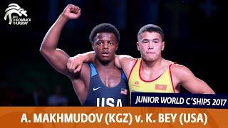 BRONZE GR - 77 kg: A. MAKHMUDOV (KGZ) v. K. BEY (USA)