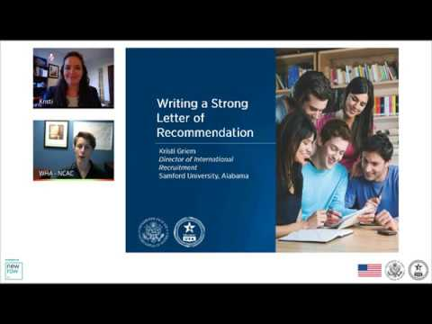 Writing a Strong Recommendation Letter