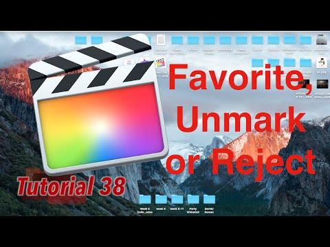 Favorite, Unmark & Reject in Final Cut Pro 10.2.1   Tutorial 38