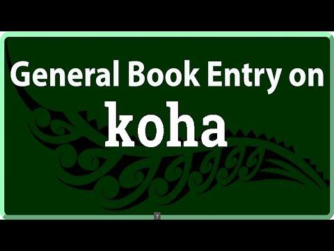General Book Entry on Koha