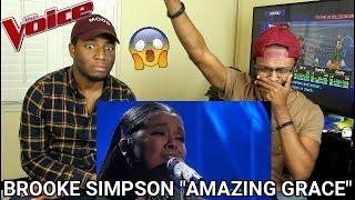 The Voice 2017 Brooke Simpson  Top 10 Amazing Grace Reaction