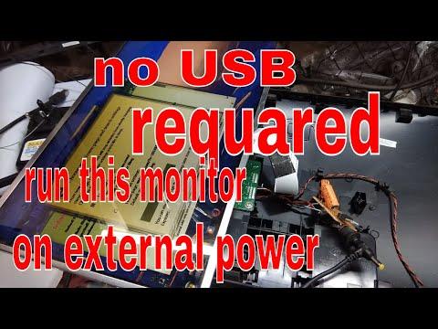 lcd monitor repair #aoc lcd restart problem # jugad for usb monitor