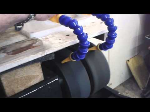 4 wheel expanding drum lapidary machine