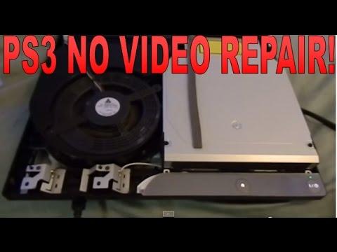 PS3 WITH NO VIDEO AND GREEN LIGHT REPAIR GLOD Hard Drive Failure (como reparar PS3 sin video)