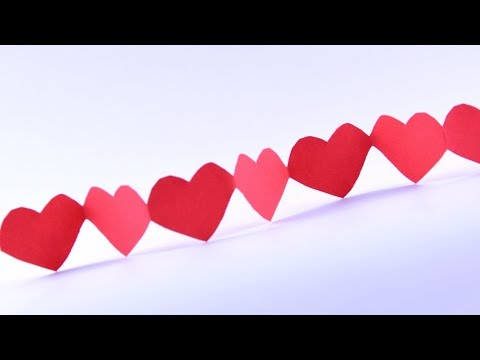 How to make ♡ Heart garlands of paper with own hands