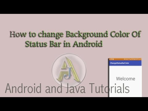 How to Change Background Color Of Status Bar Programatically in Android -Android Studio