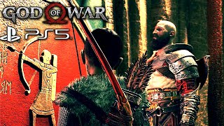 God Of War 4 PS5 – Kratos's Son Finds Out He's Half Giant Half God And His Name Is Loki 4K