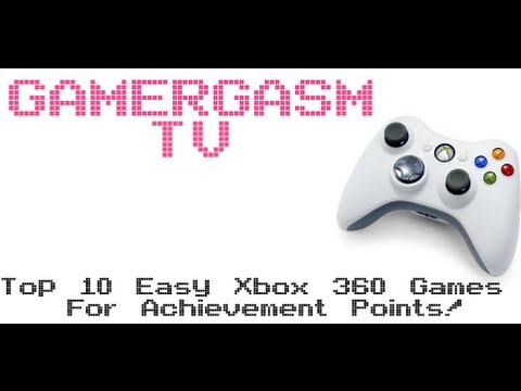 Top 10 Easy Xbox 360 Games For Achievements - NEW LIST FOR 2013
