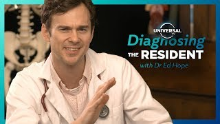 Real DOCTOR diagnoses patients from THE RESIDENT with Universal TV