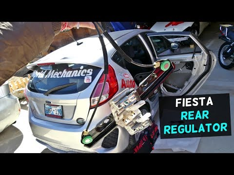 HOW TO REPLACE REAR WINDOW REGULATOR ON FORD FIESTA MK7