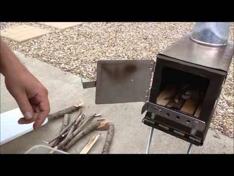 50 Caliber ammo can wood burning stove