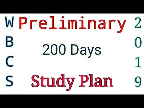 WBCS 2019 Preliminary 200 Days Study Plan