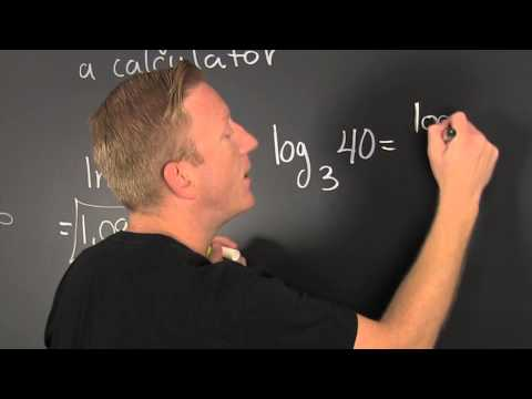 Change of Base and Evaluating Logarithms with a Calculator