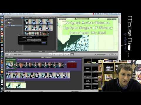 Video - iMovie to film & edit a lip sync Part II