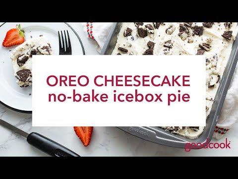 Oreo Cheesecake No-Bake Ice Box Pie