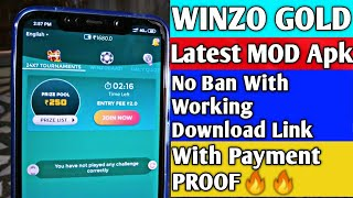 WINZO GOLD MOD Apk | No Ban With Working Download Link | With