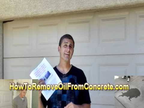 How To Remove Oil From Concrete