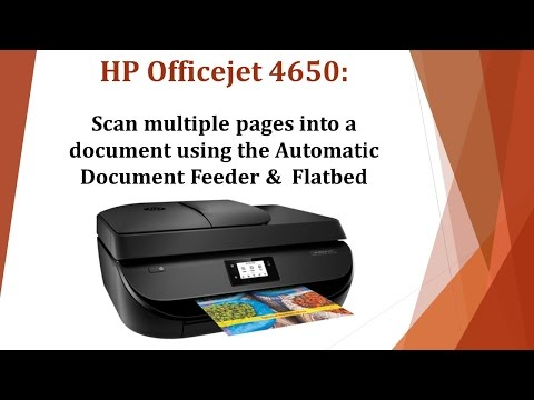 HP Officejet 4650 | 4652 | 4654 | 4655 | 4657 | 4658 : Scan multiple pages using the ADF and Flatbed