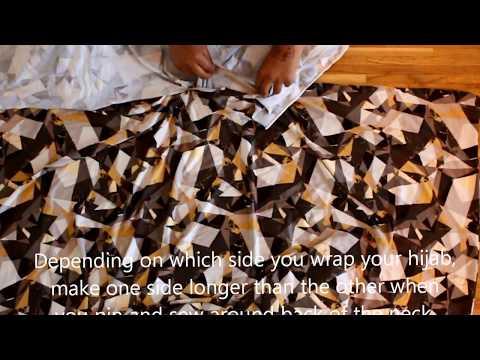 Sew your own abaya with hijab (long sleeve dress)
