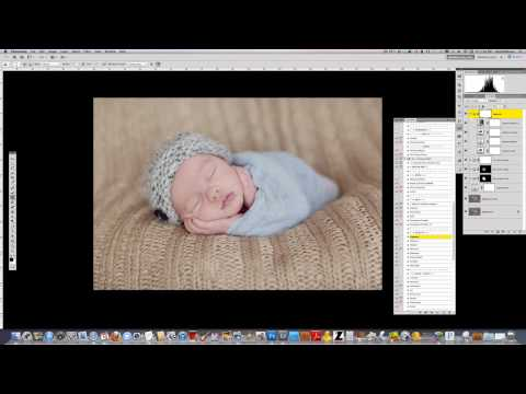 How to Edit a Newborn Photo For Creamy Skin and Tones