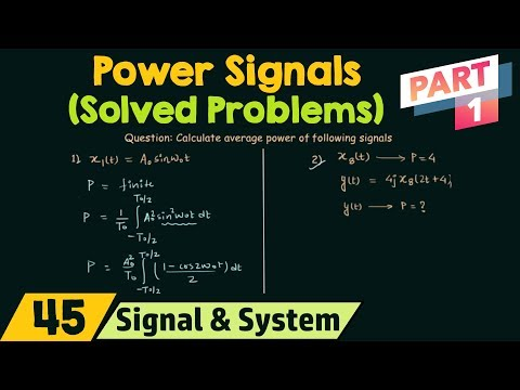 Power of CT Signals (Solved Problems) | Part 1