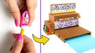 How to Make Pencil Sharpener Machine from Cardboard ✏️