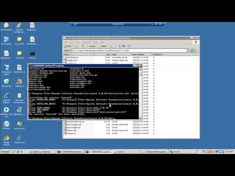 Tutorial install tomcat 8 service in services