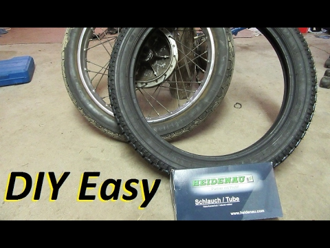 How to change your own tube style motorcycle tyres + how to balance a motorcycle tyre
