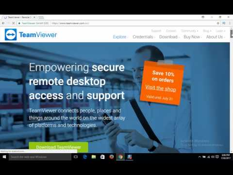 How to Free Download And Install Team-Viewer In Laptop/Computer In Windows 7,8,10 In Urdu/Hindi 2017