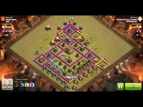 Clash of Clans TH8 vs TH8 Balloon & Minion (Balloonion) Clan War 3 Star Attack