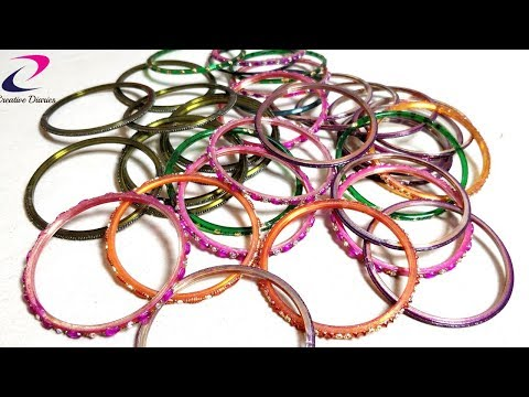 How to reuse old Bangles at home I Best out of waste craft idea I Creative Diaries
