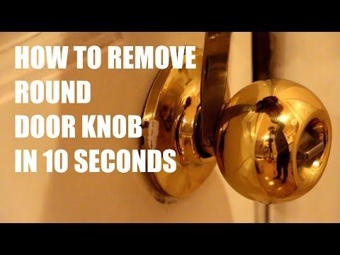 How to remove round doorknob