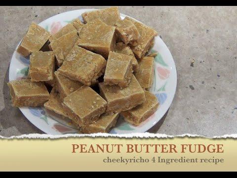 Peanut Butter Fudge 4 ingredient cheekyricho video recipe