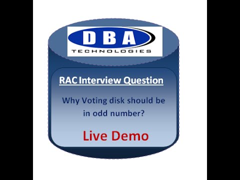 RAC DBA Interview Questions on Voting Disk - With Live Demo